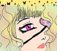 Colorful Eyepatch Girl by amazingcat