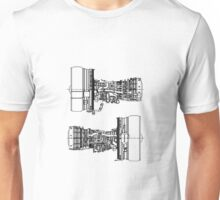 General Electric CF6-80E1A3 In Black Version Unisex T-Shirt