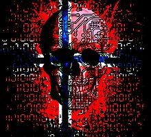 Skull circuit (norway-flag) by sebmcnulty