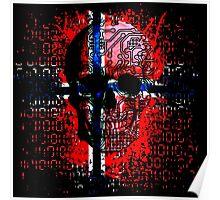 Skull circuit (norway-flag) Poster
