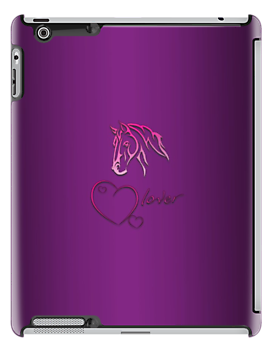 "I-Pad case ""Horselover"" violet edit by scatharis"