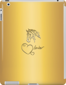 """I-Pad case """"Horselover"""" - sungolden edit by scatharis"""