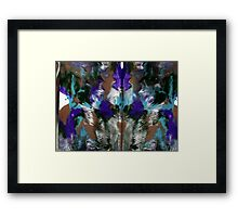 PURPLE PEOPLE EATER Framed Print
