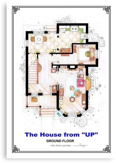 The House from UP - Ground Floor Floorplan by Iñaki Aliste Lizarralde