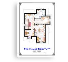 The House from UP - First Floor Floorplan Metal Print