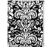 Black & WHite Vintage Floral Damasks iPad Case/Skin