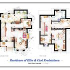 "Floorplan of the House from ""UP"" by Iñaki Aliste Lizarralde"