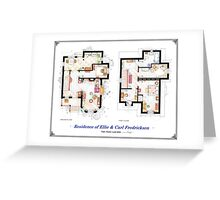 "Floorplan of the House from ""UP"" Greeting Card"