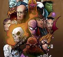Marvel Heads by JordanDuvall
