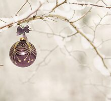 Snow bauble by Lyn Evans