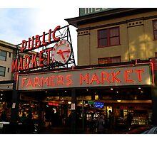 Seattle Public Market  Photographic Print