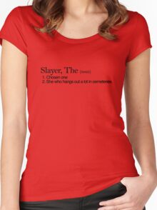Slayer, The Definition (Black type) Women's Fitted Scoop T-Shirt