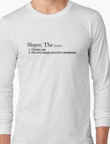 Slayer, The Definition (Black type) Long Sleeve T-Shirt