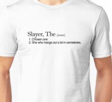 Slayer, The Definition (Black type) Unisex T-Shirt