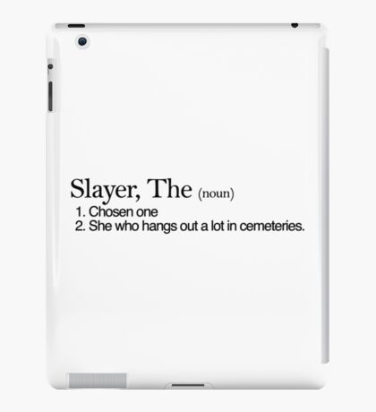 Slayer, The Definition (Black type) iPad Case/Skin