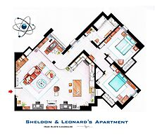 "Sheldon & Leonard's apartment from ""TBBT"" Photographic Print"