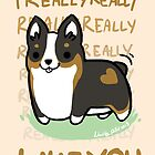 TRI Corgi Valentine -I REALLY WUF YOU- by IdentityPro