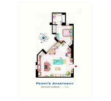 """Penny's apartment from """"TBBT"""" Art Print"""
