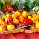 Vegetables - Peppers at Farmers Market by Susan Savad