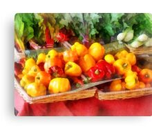 Vegetables - Peppers at Farmers Market Canvas Print