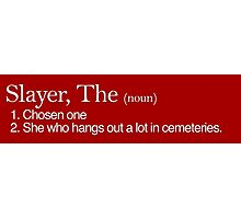 Slayer, The Definition (white type) Photographic Print