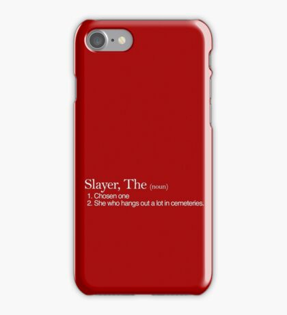 Slayer, The Definition (white type) iPhone Case/Skin
