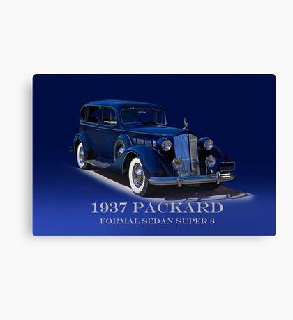 1937 Packard Formal Sedan w/ID Canvas Print
