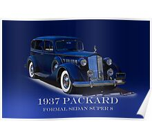 1937 Packard Formal Sedan w/ID Poster