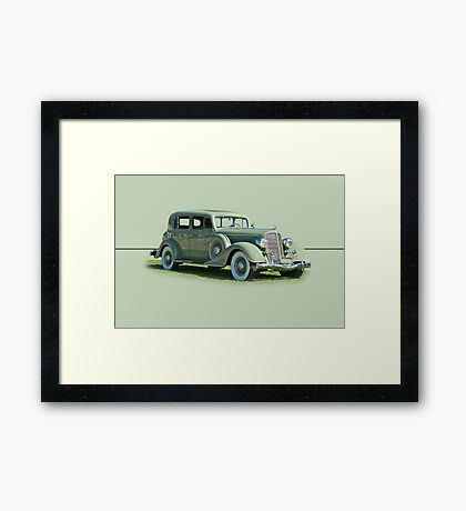 1935 Buick Series 60 Club Sedan w/o ID Framed Print