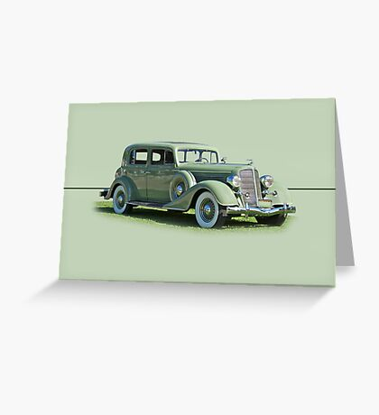 1935 Buick Series 60 Club Sedan w/o ID Greeting Card