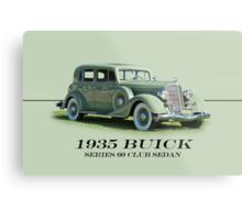 1935 Buick Series 60 Club Sedan w/ID Metal Print