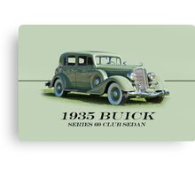 1935 Buick Series 60 Club Sedan w/ID Canvas Print