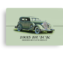 1935 Buick Series 60 Club Sedan w/ID Canvas Print