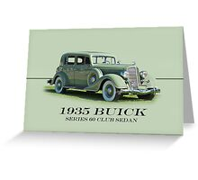 1935 Buick Series 60 Club Sedan w/ID Greeting Card