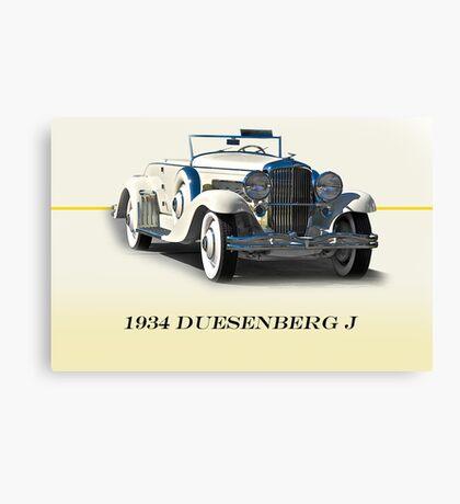 1934 Duesenberg J w/ID Canvas Print
