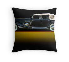 1933 Cadillac V16 Convertible Sedan w/o ID Throw Pillow