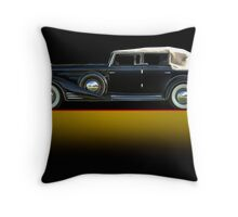 1933 Cadillac V16 Convertible Sedan w/o ID Throw Pillow
