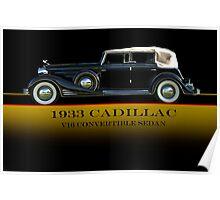 1933 Cadillac V16 Convertible Sedan w/ID Poster