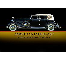 1933 Cadillac V16 Convertible Sedan w/ID Photographic Print