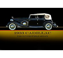1933 Cadillac V16 Convertible Sedan w/ID Photographic Print