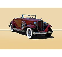 1932 Packard 900 Convertible Coupe w/o ID Photographic Print