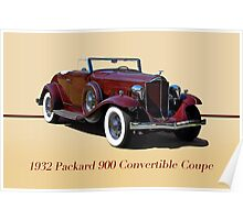 1932 Packard 900 Convertible Coupe w/ID Poster