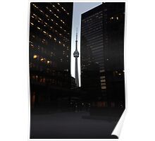 CN Tower on Bay Poster