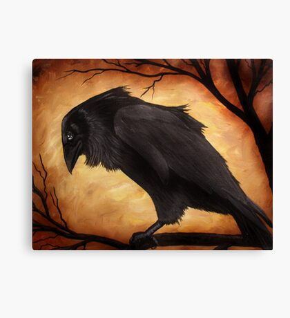 Mystery in the Air - Raven Canvas Print