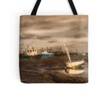 Boats waiting for the tide Tote Bag