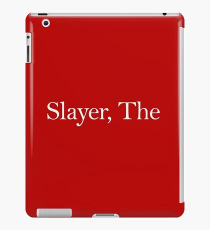Slayer, The (white) iPad Case/Skin