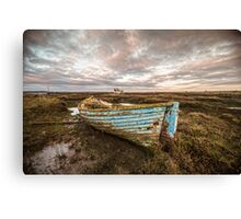 The Blue Boat Canvas Print