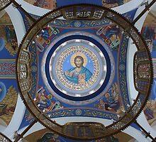 Cathedral Ceiling. Holy Trinity Cathedral, Petropavlovsk-Kamchatskiy, Russia by Igor Pozdnyakov