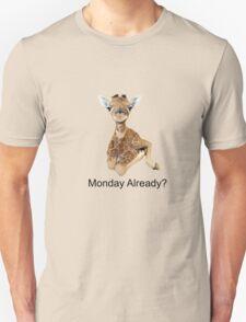 cute baby giraffe Monday Already? tee   Unisex T-Shirt