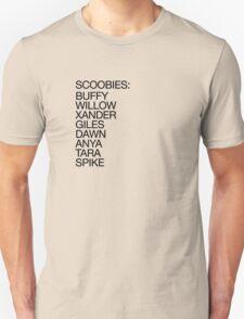 The Scoobies (dark type) T-Shirt